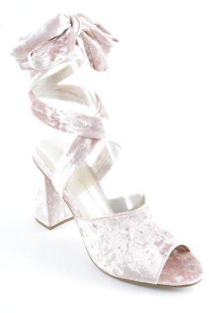 Asos High Heel Sandaletten altrosa Glanz-Optik