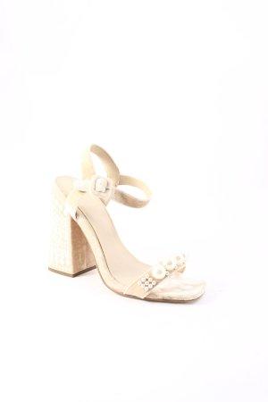 Asos High Heel Sandaletten creme-weiß extravaganter Stil