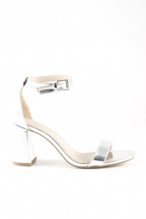 Asos High Heel Sandal silver-colored elegant