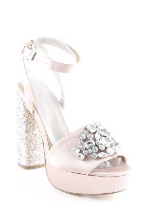 Asos High Heels altrosa-silberfarben extravaganter Stil