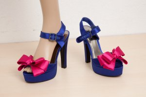 Asos Platform High-Heeled Sandal blue-magenta