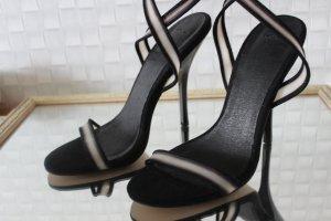 Asos Sandalen met bandjes en hoge hakken zwart