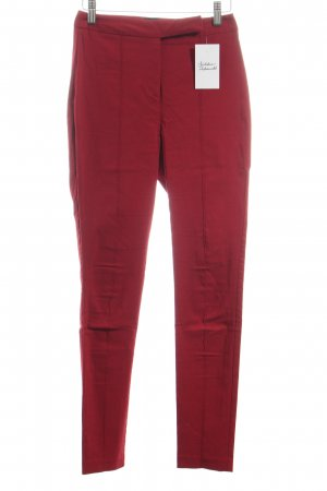 Asos Pantalon taille haute rouge foncé style classique