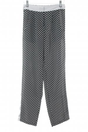 Asos Pantalon taille haute noir-gris clair motif de tache style décontracté