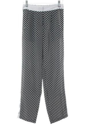 Asos High Waist Trousers black-light grey spot pattern casual look