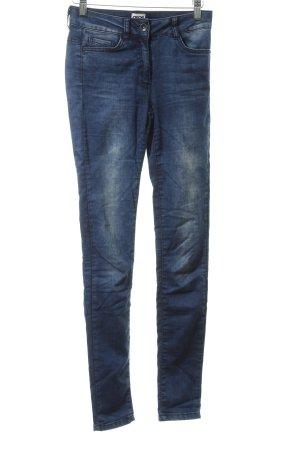 Asos Jeans a vita alta blu stile casual