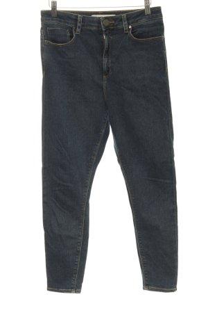 Asos High Waist Jeans dunkelblau Casual-Look