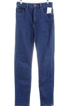 Asos High Waist Jeans dunkelblau schlichter Stil