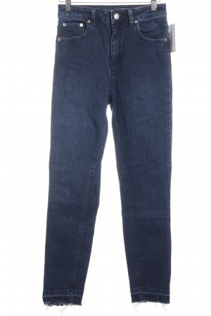 Asos Hoge taille jeans donkerblauw straat-mode uitstraling