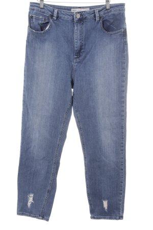 Asos Hoge taille jeans leigrijs ontspannen stijl