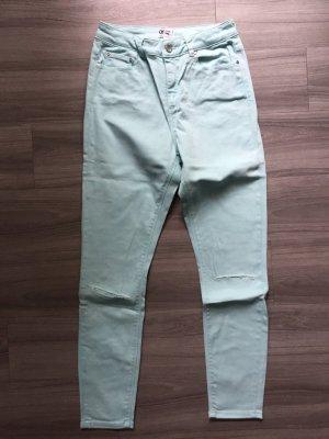 Asos Denim Hoge taille jeans lichtblauw