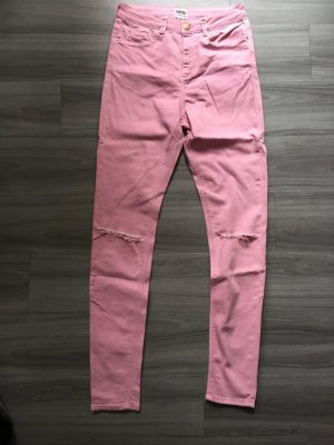 Asos Denim Hoge taille jeans roze-neonroos