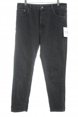 Asos High Waist Jeans schwarz Boyfriend-Look