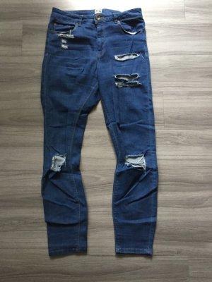 Asos Denim Hoge taille jeans staalblauw