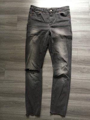 Asos Denim Low Rise jeans grijs
