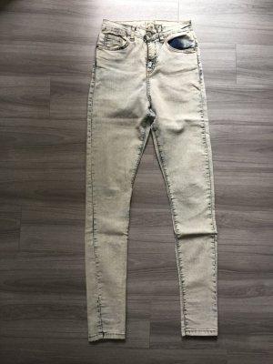 Asos Denim Hoge taille jeans babyblauw