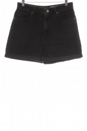 Asos High-Waist-Shorts schwarz schlichter Stil