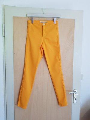 Asos High Waist Skinny Hose in Ringelblumengelb