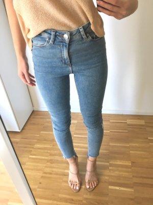Asos High Waist Stretch Jeans 34/XS hellblau skinny