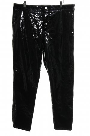 Asos Low-Rise Trousers black leather-look