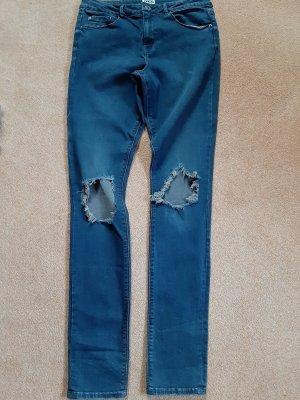 Asos Denim Jeans skinny gris ardoise