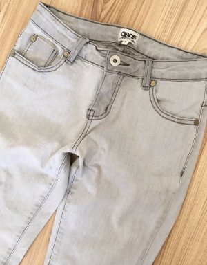 ASOS Jeans Röhrenjeans UK6 XS 34 W25 Grau Slim Fit Ankle Super Skinny Jeans