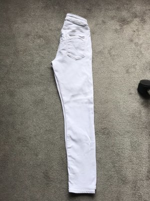 Asos Denim Jeans skinny bianco-argento