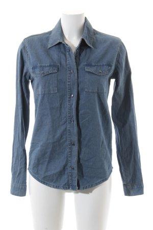 Asos Jeansbluse blau Casual-Look
