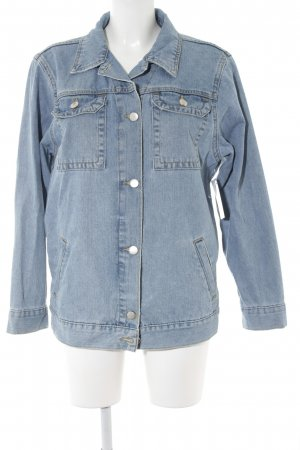 Asos Denim Jacket azure-cornflower blue street-fashion look