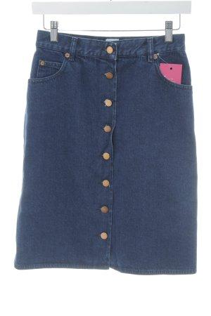 Asos Jupe en jeans bleu foncé style décontracté