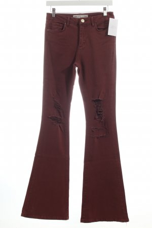 Asos Jeansschlaghose bordeauxrot 70ies-Stil