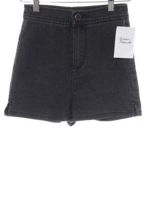 Asos Pantalón corto de tela vaquera gris oscuro look casual