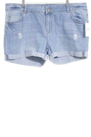 Asos Pantalón corto de tela vaquera azul celeste-azul acero look casual