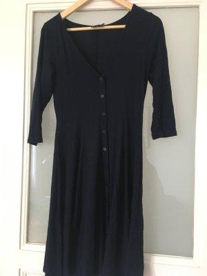 Asos Vestido de tela de jersey azul oscuro Algodón