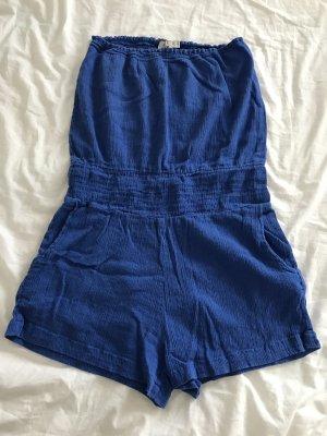 ASOS Jumpsuit 36 S blau Bandeau Strand dunkelblau