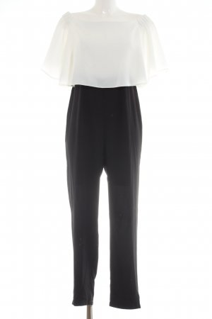 Asos Jumpsuit weiß-schwarz Casual-Look