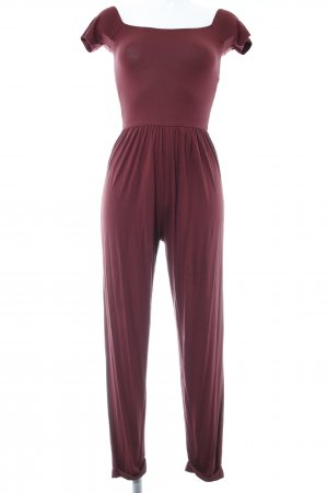 Asos Jumpsuit bordeauxrot Casual-Look
