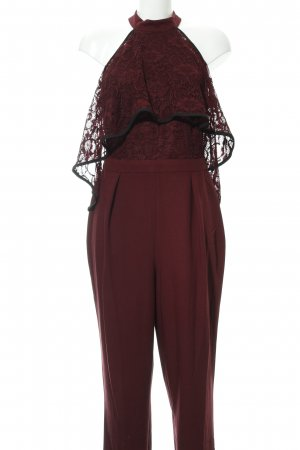 Asos Jumpsuit bordeaux floral pattern casual look