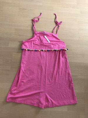 Asos Jumpsuit Playsuit Bommel Hippie Boho Pink 38