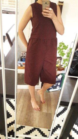 Asos Jumpsuit Playsuit Einteiler Onepiece Anzug Bordeaux Burgundy Culottes