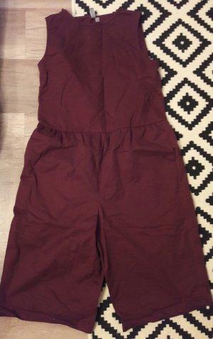 Asos Jumpsuit Playsuit Einteiler Onepiece Anzug Oversize Weinrot Bordeaux 38