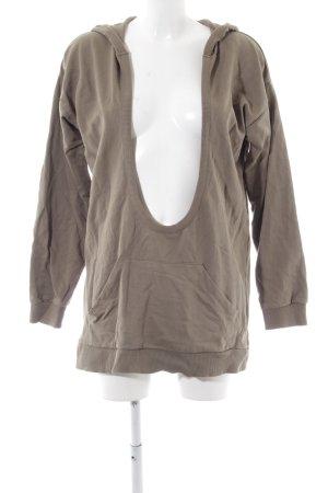 Asos Sweatshirt met capuchon bruin volledige print casual uitstraling