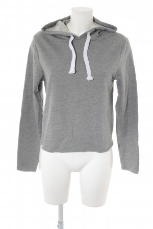 Asos Hooded Sweatshirt grey-white casual look