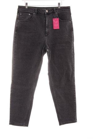 Asos Jeans carotte gris anthracite style décontracté