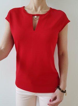 Asos Kastenbluse XXS XS S 32 34 36 rot Hemd Bluse Shirt Oberteil Tunika Longshirt Pullover Top Neu