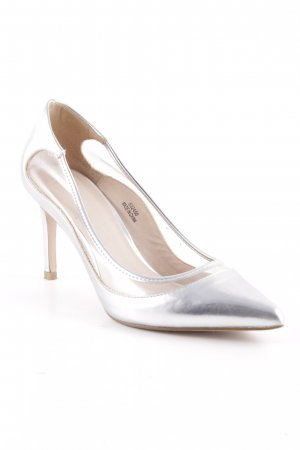 Asos Keil-Pumps silberfarben Party-Look