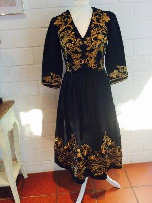 Asos  Kleid 36/S Gold bestickt Folklore Blogger Style