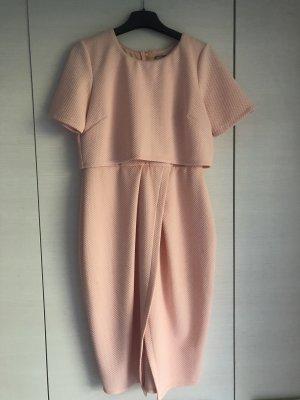Asos Vestido corte imperio rosa-albaricoque