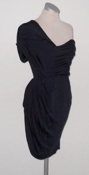 Asos Kleid blau Abendkleid oneshoulder Mieder Gr. 36 S gerafft