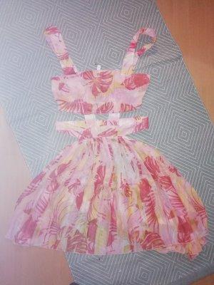 Asos Kleid Cutouts Beach Dress Minikleid Chiffon Strand Sommer 38